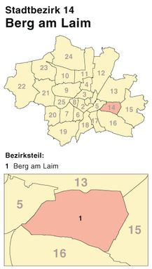 Der Münchener Stadtbezirk Berg am Laim