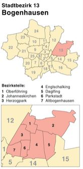 Münchener Stadtbezirk Bogenhausen