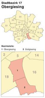 Münchener Stadtbezirk Obergiesing-Fasangarten