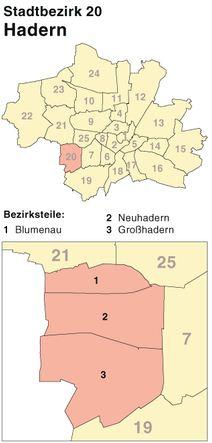 Der Münchener Stadtbezirk Hadern