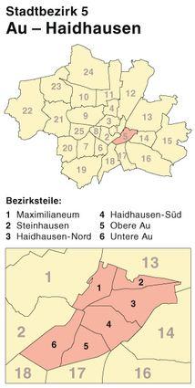 Der Münchener Stadtbezirk Au-Haidhausen