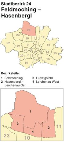 Der Münchener Stadtbezirk Feldmoching-Hasenbergl