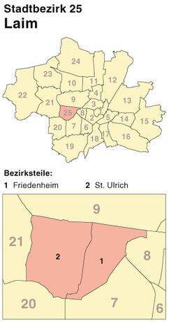 Der Münchener Stadtbezirk Laim