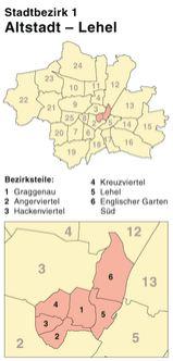 Der Münchener Stadtbezirk Altstadt-Lehel