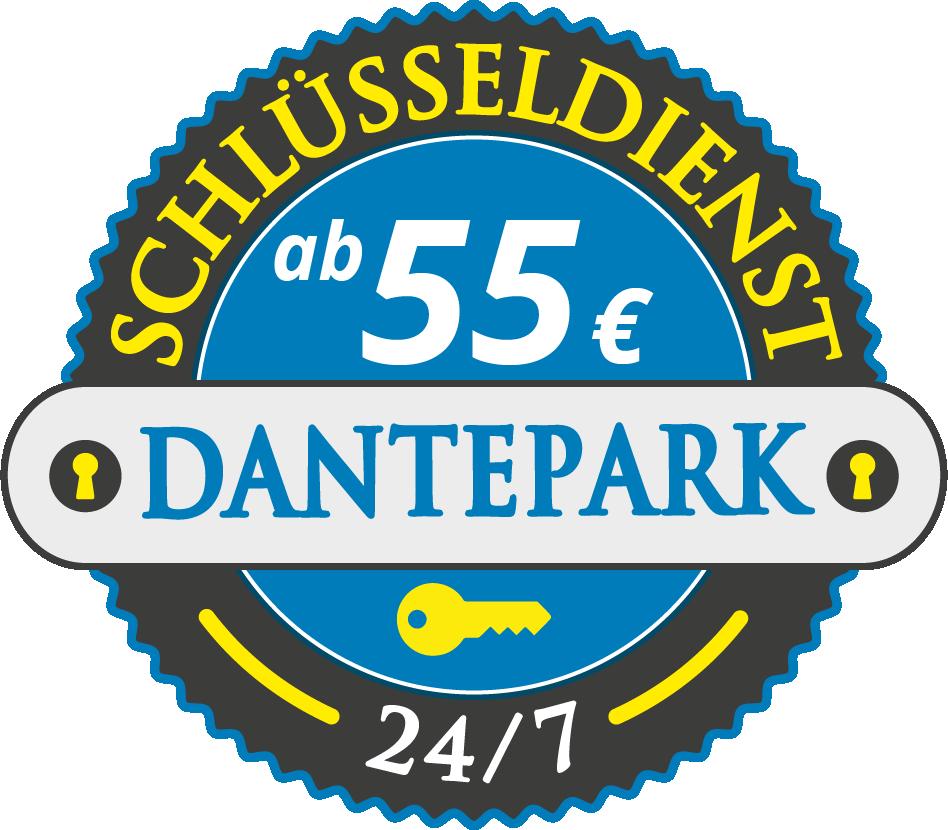 Schluesseldienst München dantepark mit Festpreis ab 55,- EUR