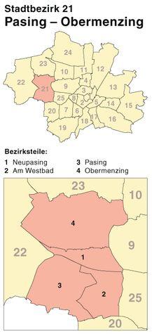 Der Münchener Stadtbezirk Pasing-Obermenzing