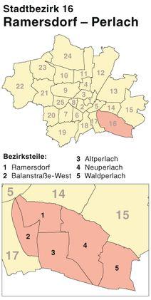 Der Münchener Stadtbezirk Ramersdorf-Perlach