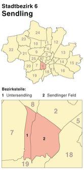 Der Münchener Stadtbezirk Sendling
