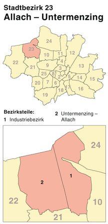 Der Münchener Stadtbezirk Allach-Untermenzing